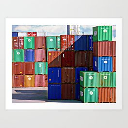 Colorful containers II Art Print