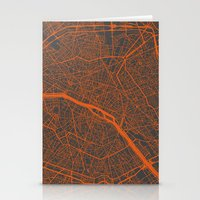 paris map Stationery Cards featuring Paris map by Map Map Maps