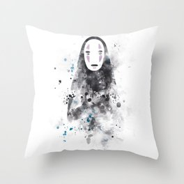 No Face Throw Pillow