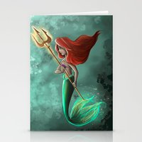 ariel Stationery Cards featuring Ariel by Laia™