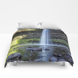 At the Foot of South Falls, No. 2 Comforters