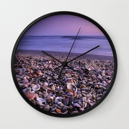 The Beach Of The Shells Wall Clock