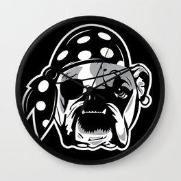 Pirate Dog Wall Clock
