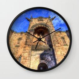 Edinburgh Castle Scotland Wall Clock