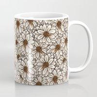 daisies Mugs featuring Daisies by Marta Li