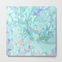 Mint Blue Periwinkle Metal Print