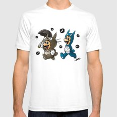Super Totoro Bros. Alternative Mens Fitted Tee White LARGE