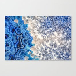 Blue sea ice agate 2990 Canvas Print