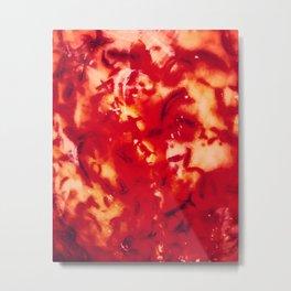Carnelian Flames Metal Print