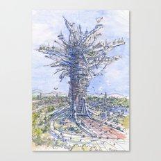 L'albero antropizzato Canvas Print