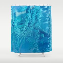 Hoar Frost Ice Crystals Shower Curtain
