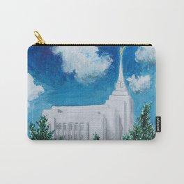 Rexburg Idaho LDS Temple Carry-All Pouch