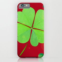 Crimson and Clover iPhone Case