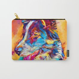 Border Collie 3 Carry-All Pouch