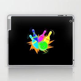 Neon Vintage Retro Strike Bowling. - Gift Laptop & iPad Skin