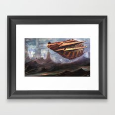 mother ship Framed Art Print