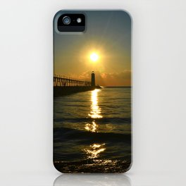 Manistee at Sundown iPhone Case
