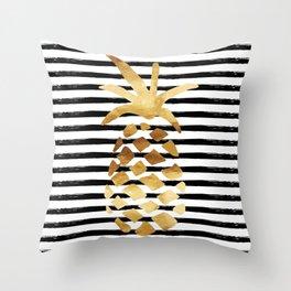 Pineapple & Stripes Throw Pillow
