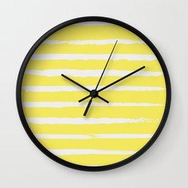 Irregular Stripes Yellow Wall Clock