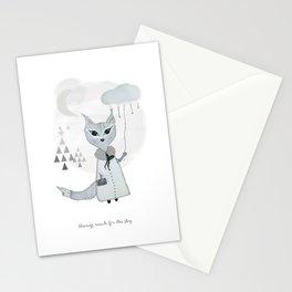 Lili Moon Winterland // Little black lines Stationery Cards