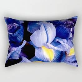 Purple Amethyst Floral Bouquet With Elegant Yellow Accents Rectangular Pillow