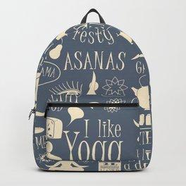 Yoga Lfestyle Seamless Pattern Backpack