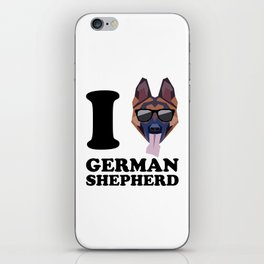 I Love German Shepherd modern v1 iPhone Skin