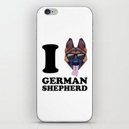 I Love German Shepherd modern v1 iPhone Skin