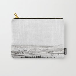 Thingvellir National Park-White Winter Carry-All Pouch