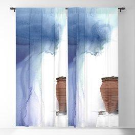 Blue Magic Pot Blackout Curtain