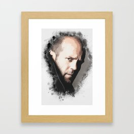 A Tribute to JASON STATHAM Framed Art Print