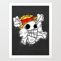 luffy Art Prints featuring Luffy Laboon by rKrovs
