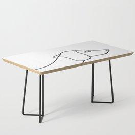 Minimal Dachshund Coffee Table