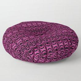 Dividers 07 in Purple over Black Floor Pillow