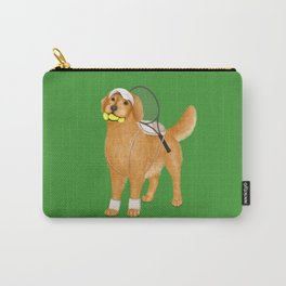 Ready for Tennis Practice (Green) Carry-All Pouch