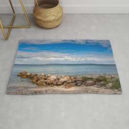 Lake with stones in Denmark Rug