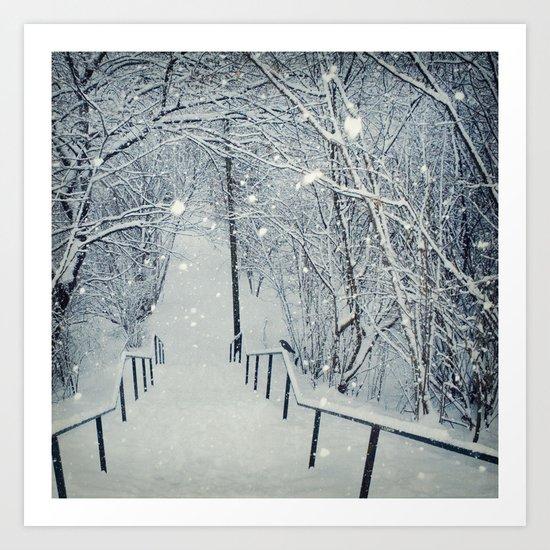 snow slide Art Print
