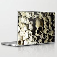 skulls Laptop & iPad Skins featuring skulls by SINPE