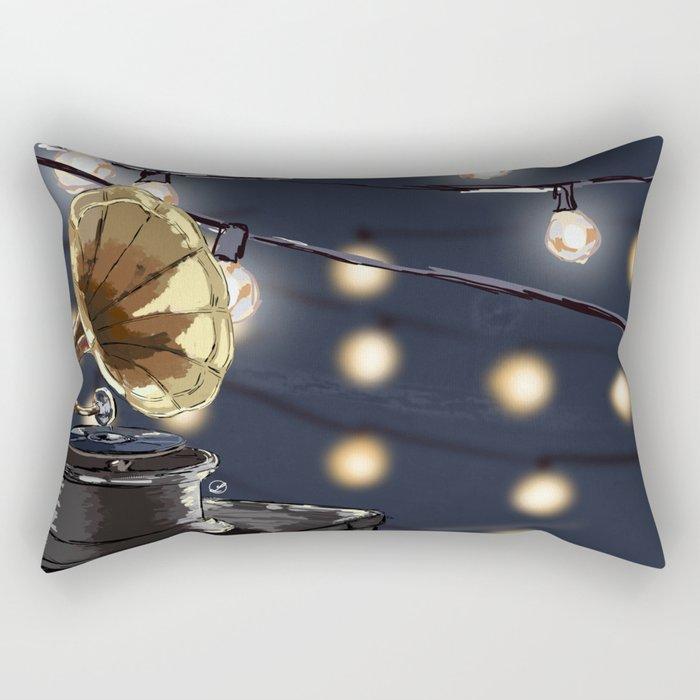 Music Outside Rectangular Pillow