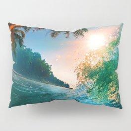 Palm Tree - Waves - Turtles - Beach - Ocean Pillow Sham