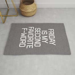 Favorite F-Word Funny Quote Rug