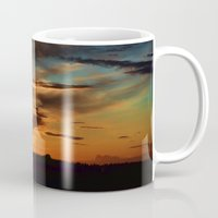 swedish Mugs featuring Swedish sunset by Mark W