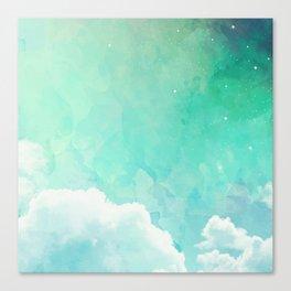 Cloud sky pattern Canvas Print