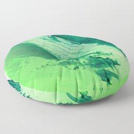 Green Smear Floor Pillow