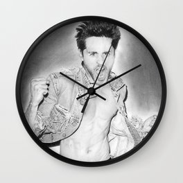 Jared Leto (30 Seconds To Mars) Portrait. Wall Clock