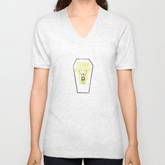 think outside the box, while you still can Unisex V-Neck