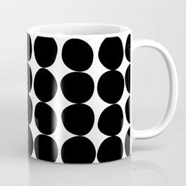 Midcentury Modern Dots Black and White Coffee Mug