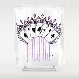 Magical Cards Shower Curtain