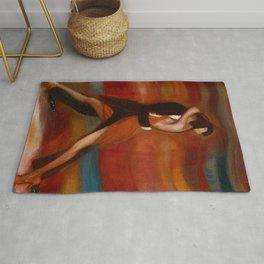 Last Tango in Paris, France Dance portrait Rug