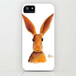 Happy Hare / Rabbit ' GOLDEN JELLY BEAN ' by Shirley MacArthur iPhone Case